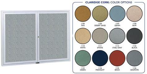claridge bulletin board cabinet claridge 4220bcc revere series bulletin board cabinet 2