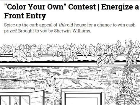 This Old House Sweepstakes 2017 - this old house quot color your own quot contest
