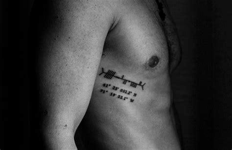 tattoo across ribs 50 ogham tattoo designs for men ancient alphabet ink ideas