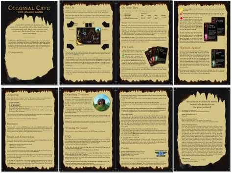 design game rules designer diary colossal cave the board game