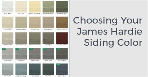 hardiplank colors hardie colors choosing your hardie siding