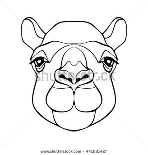 printable camel mask template camel head stock images royalty free images vectors