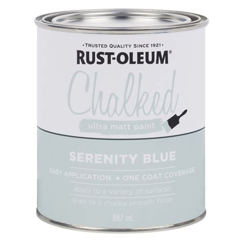 Rust Oleum 887ml Serenity Blue Chalked Ultra Matt Paint
