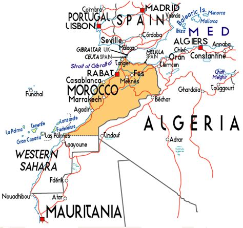 africa map morocco map of morocco in africa