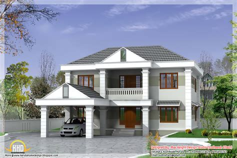 Double Storey Home Design 2850 Sq Ft Kerala Home Design And Floor Plans