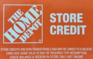 home depot in store credit only gift card balance check