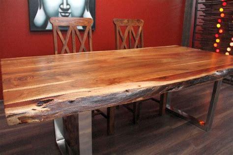 Holztisch Massiv Polieren by Esstisch Suar Massiv Holz Tisch Beine Stahl Poliert