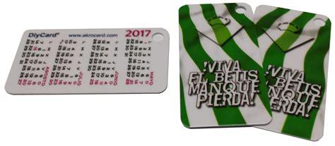 Calendario Betis Tarjeta Pvc Calendario Real Betis Balompi 201