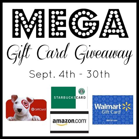 400 in gift cards up for grabs target amazon walmart and more