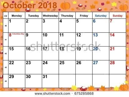 calendar october 2018 halloween   happyeasterfrom.com