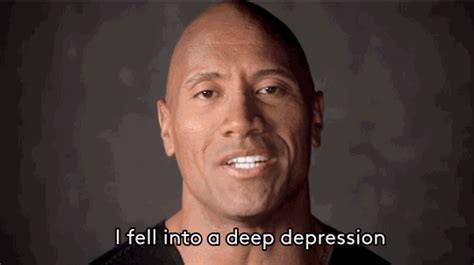 dwayne the rock johnson gif the rock is using his battle with depression to inspire