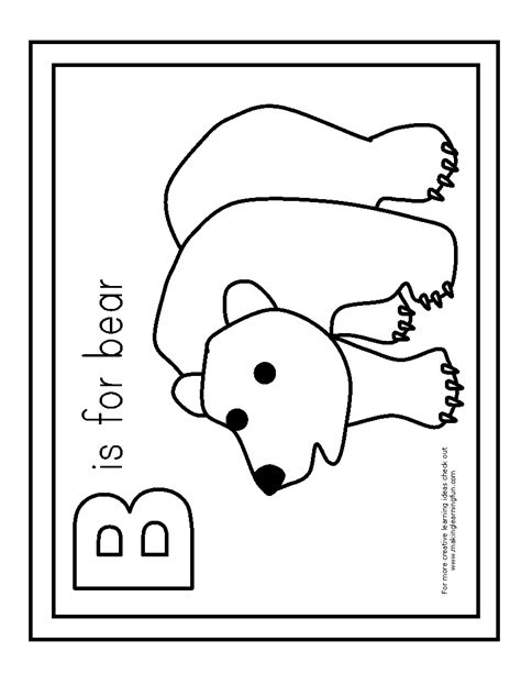 b bear coloring page 100 day activities apples bake