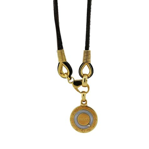 Bvlgari Silver bvlgari zodiac sterling silver and gold necklace