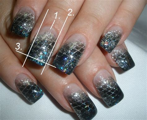nail design for new year 2013 glitter gel
