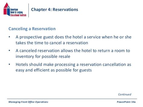 Decline Reservation Letter Chapter 4 Reservations