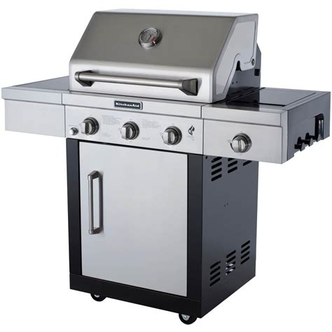 Kitchenaid Outdoor Grills by Kitchenaid 25 Inch Propane Gas Grill On Cart With Side