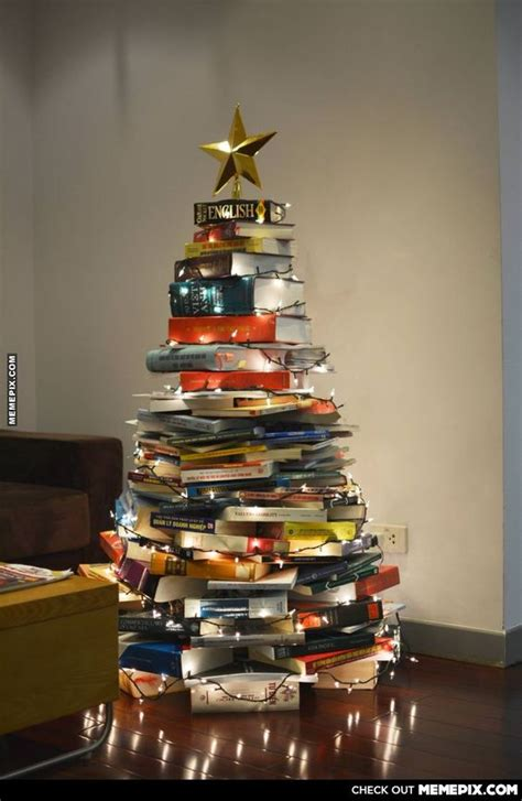 20 bookish christmas trees to get you in the holiday spirit