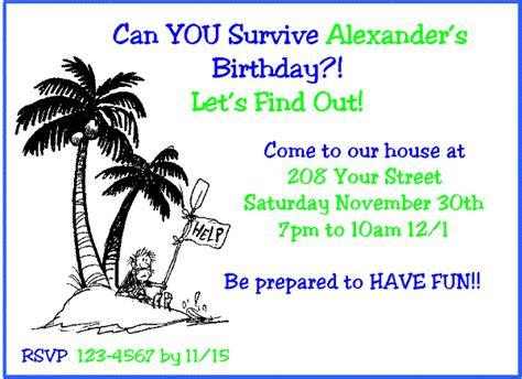 Survivor Birthday Party Invitations Ideas Bagvania Free Printable Invitation Template Survivor Invitation Template