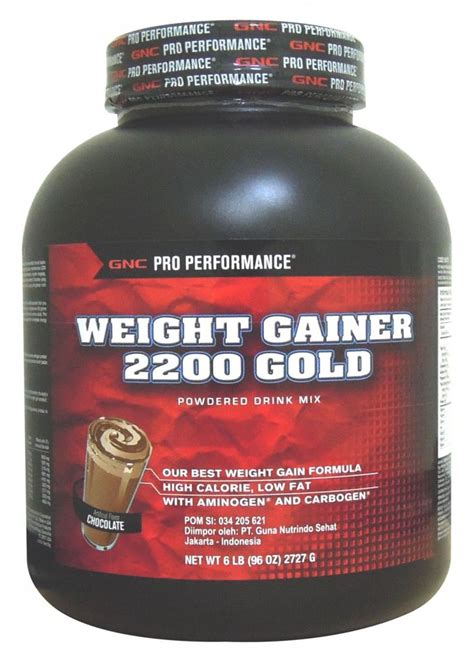 Suplemen Weight Gainer Gnc Weight Gainer 2200 Chocolate 6 Lbs Nutrition