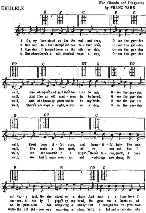 Funny Sings For Ukulele Songbook P0028 The Garden Wall Lyrics