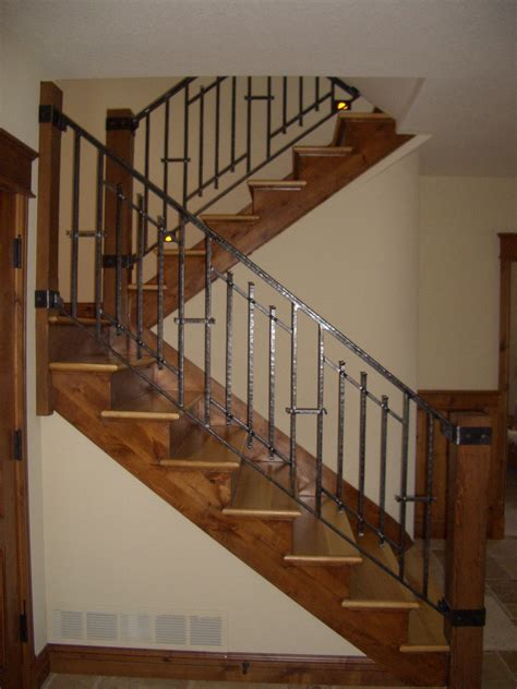 Design Ideas For Indoor Stair Railing Cool Image Of Home Interior Stair Design Using Wooden Half Turn Staircase Including Black Metal