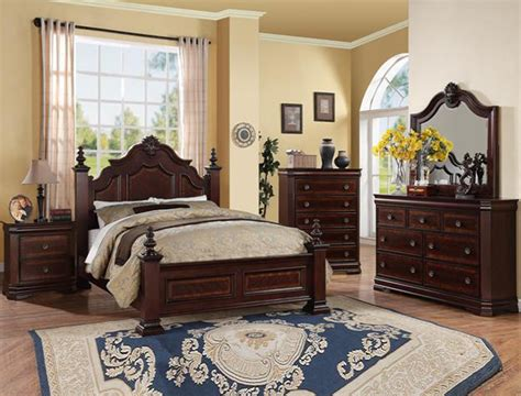 cherry finish bedroom furniture charlotte collection bedroom set cherry finish b8300
