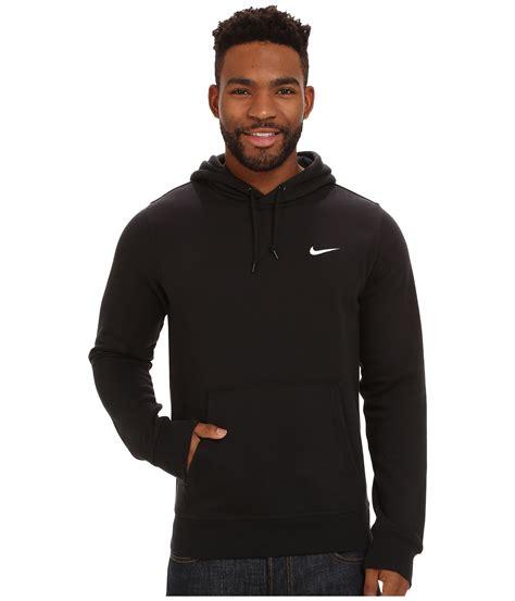 Nike Hoddie Text Black nike club hoodie swoosh in black for lyst