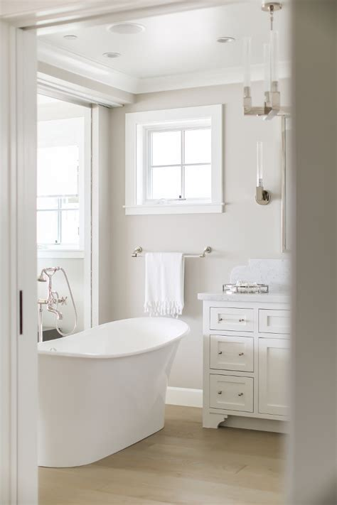 revere pewter in bathroom california beach house with crisp white coastal interiors