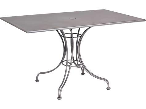 Woodard Wrought Iron 48 x 30 Rectangular Dining Table with