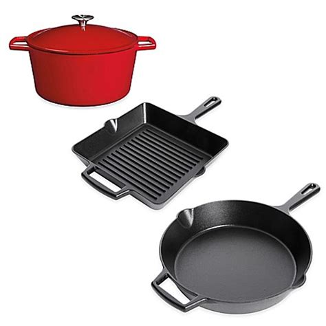 bed bath and beyond cast iron skillet artisanal kitchen supply pre seasoned cast iron open