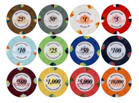 chip colors 25pc 13 5g monaco casino clay chips 12 colors p 605