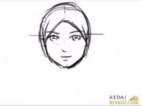 membuat poster kartun cara lukis kartun wanita bertudung youtube