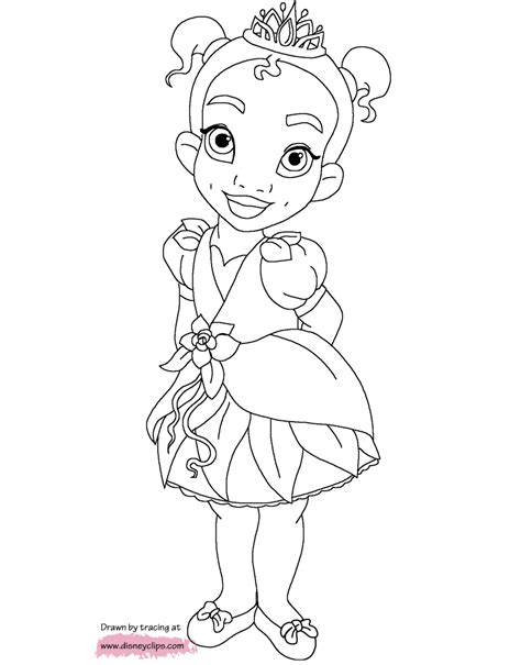 Little Princesses Printable Coloring Pages Disney Baby Disney Princess Coloring Pages