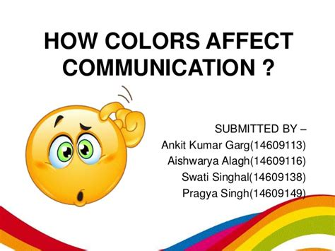 how colors affect communication