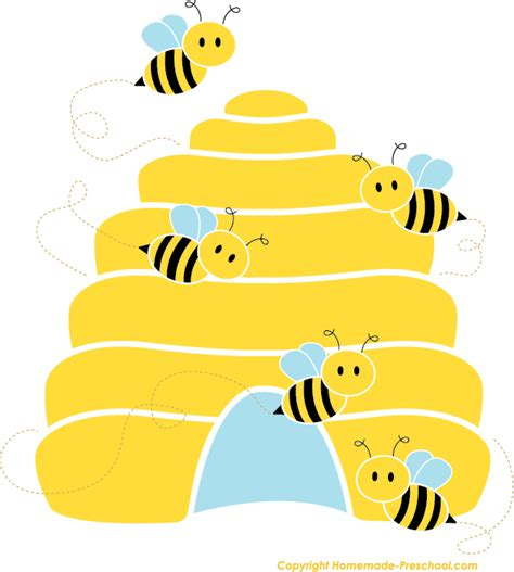bee hive clip free bee clipart
