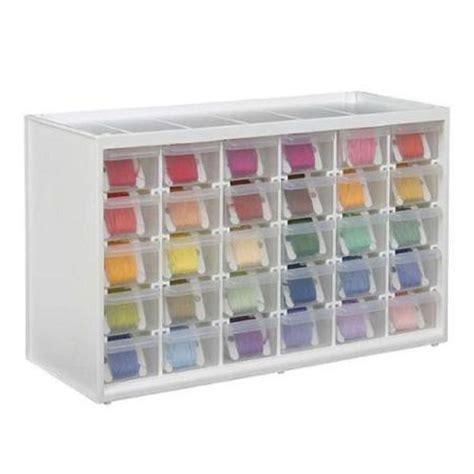 translucent craft storage cabinet sewing needlework tools