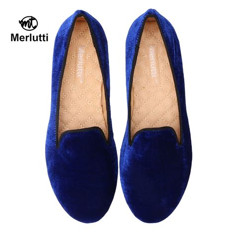 royal blue loafers for handmade plain royal blue velvet loafers merlutti