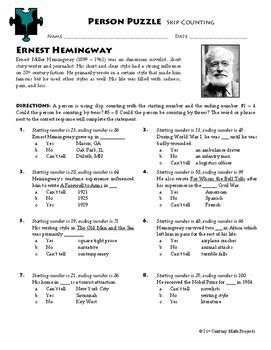 ernest hemingway biography worksheet 291 best images about 21st century math projects tpt on
