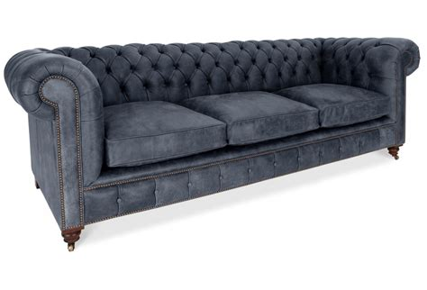 Large Chesterfield Sofa The Judge Rustic Leather Chesterfield Large Sofa From Boot