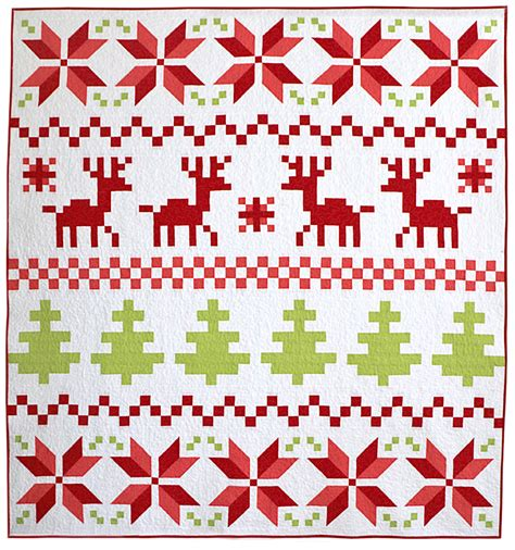 christmas patterns modern freshly pieced fair isle christmas quilt my new pattern