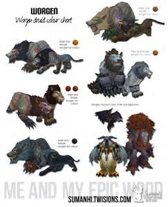 worgen druid colors wow troll druid cat form colors images
