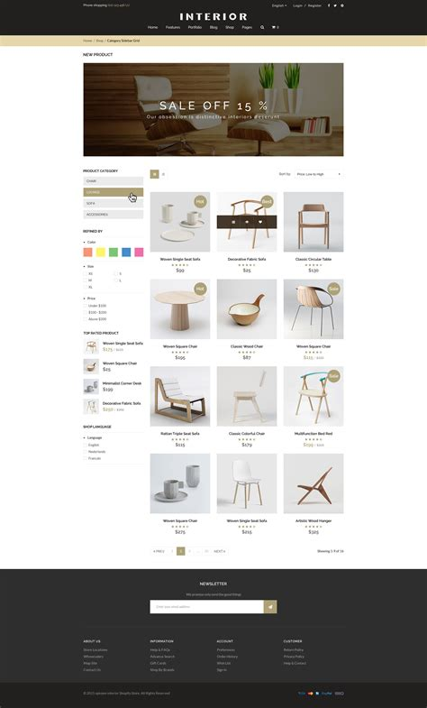 shopify themes themeforest responsive minimalist shopify theme for interior by