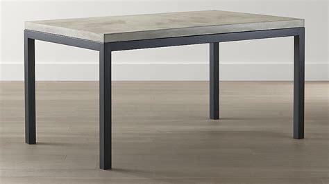 white concrete table top parsons concrete top steel base dining tables