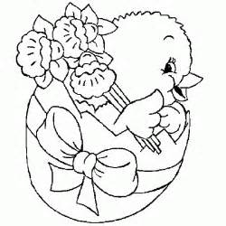 Free for kids easter chick easter spr coloring pages color easter