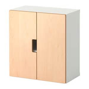 stuva wall cabinet with doors birch ikea
