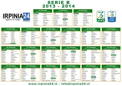 Calendario B Serie Irpinia24 Calendario Serie B