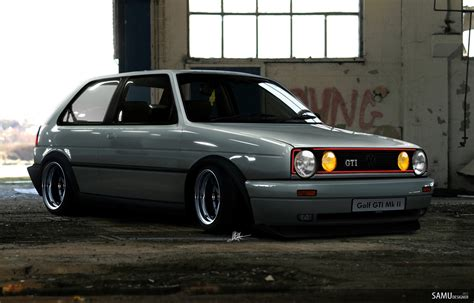 volkswagen gold vw golf mk2 gti modified www pixshark com images