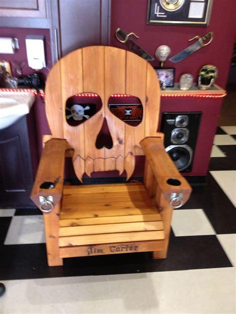 skull adirondack chair   lars stoltz larshole