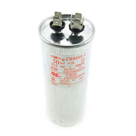 ac 450v 50uf cbb65a 1 air conditioner motor start compressor run capacitor ebay