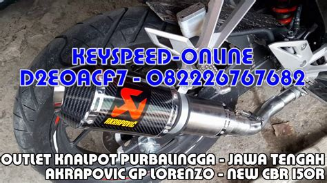 Slip On Akrapovic Lorenzo Karbon knalpot new cbr 150r slip on akrapovic gp lorenzo carbon